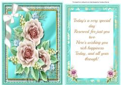 Topper with Verse , Tiffanys Roses,