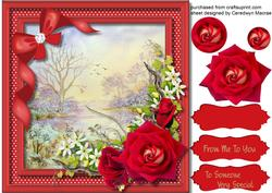 Beautiful Romantic Scene with Red Roses ,
