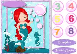 Little Mermaid with Red Hair, 3,