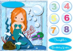 Little Mermaid with Ginger Hair, 4,