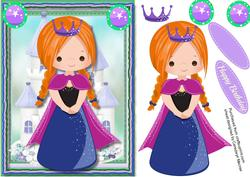 Princess Pia in Her Crown ,
