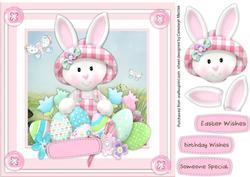 Lovely Bunny Eggs Girl,