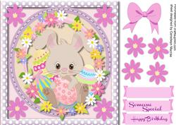 Cute Rabbit in the Flowers ,