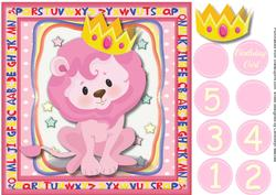 Lovely Lion Princesses Birthday ,