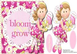 Over the Edge Birthday Fairy, Bloom and Grow,