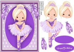 Lovely Blond Ballerina in Lilac