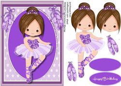 Lovely Brown Haired Ballerina ,