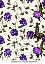 Vintage Floral Butterflies Paper2