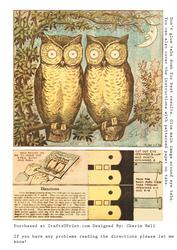 Vintage Moving Eyes Owl Card