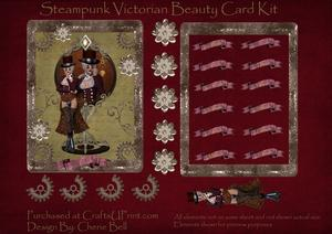 Steampunk Victorian Beauty Card Kit