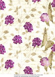 Faded Retro Floral Background