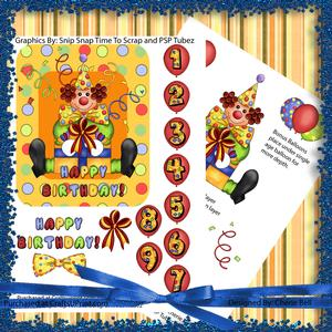 Out of Frame Birthday Clown Card Mini Kit