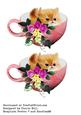 Fluffy Kitten in Tea Cup Elements