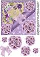 Vintage Victorian Floral Lavendar Postcard Topper
