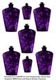 Gothic Purple Potion Bottles Embellishment Sheet