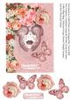 Floral Venetian Mask Birthday Topper