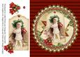 Vintage Decorative Round Christmas Topper Kit
