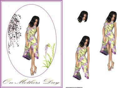 Lilac Garden Card Front