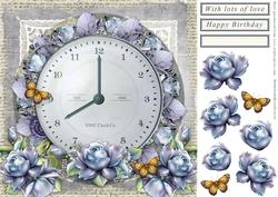 Flowers and Time Card Front