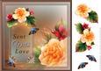 Enchanted Begonias Card Front 3