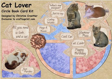 Cat Lover Circle Book Card Kit