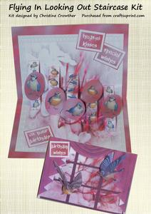 Flying in Looking Out Staircase Card Kit