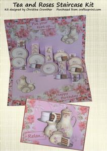 Tea and Roses Staircase Card Kit