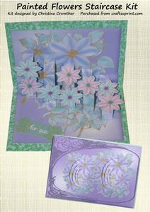 Painted Flowers Staircase Card Kit
