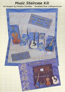 Music Staircase Card Kit