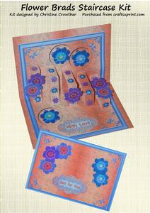 Flower Brads Staircase Card Kit