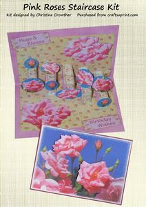 Pink Roses Staircase Card Kit