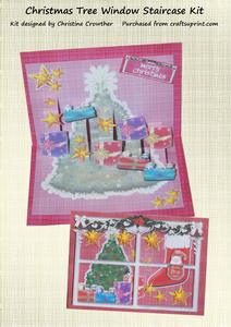 Christmas Tree Window Staircase Card Kit