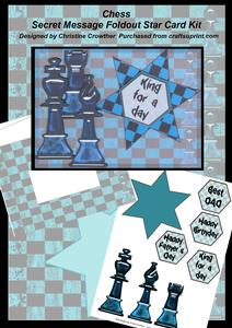 Chess Secret Message Foldout Star Card Kit