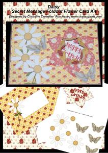 Daisy Secret Message Foldout Flower Card Kit