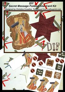 DIY Secret Message Foldout Star Card Kit