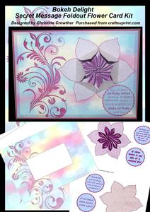Bokeh Delight Secret Message Foldout Flower Card Kit
