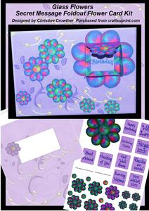 Glass Flowers Secret Message Foldout Flower Card Kit