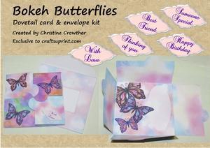 Bokeh Butterflies Dovetail Card & Envelope Kit