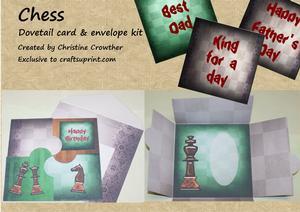 Chess Dovetail Card & Envelope Kit