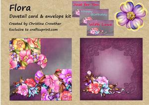 Flora Dovetail Card & Envelope Kit