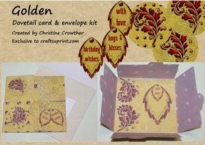 Golden Dovetail Card & Envelope Kit
