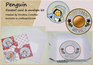 Penguin Dovetail Card & Envelope Kit