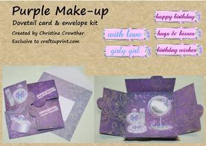 Purple Make-up Dovetail Card & Envelope Kit