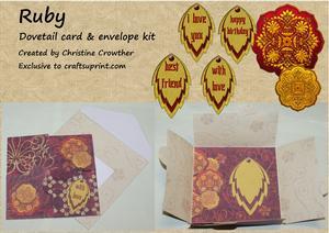 Ruby Dovetail Card & Envelope Kit