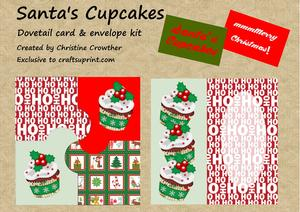 Santa?s Cupcakes Dovetail Card & Envelope Kit