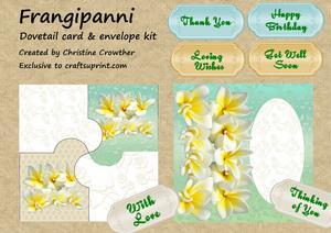 Frangipanni Dovetail Card & Envelope Kit