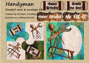 Handyman Dovetail Card & Envelope Kit