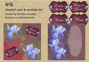 Iris Dovetail Card & Envelope Kit