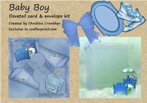 Baby Boy Dovetail Card & Envelope Kit