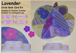 Lavender Circle Book Card Kit